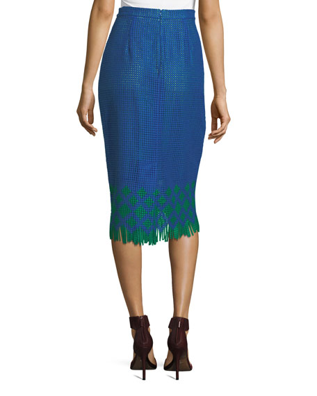 The Kittery Woven Pencil Skirt