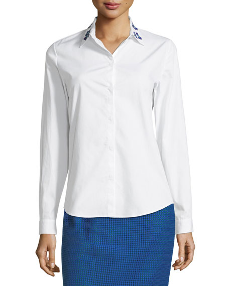 The Norris Poplin Blouse