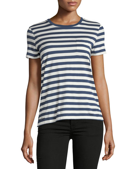 Short-Sleeve Crewneck Striped T-Shirt