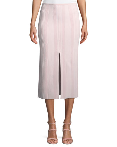 Double-Slit Ribbed Skirt