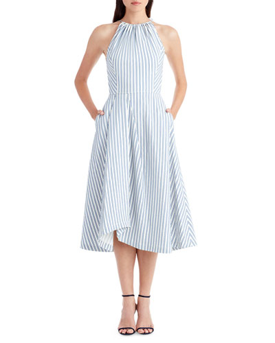 Sleeveless Shirting Fabric Apron Dress