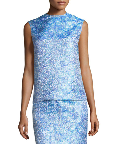 CALVIN KLEIN 205W39NYC Flower Jacquard Sleeveless Top