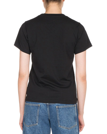 Fitted Cotton Logo City Tee