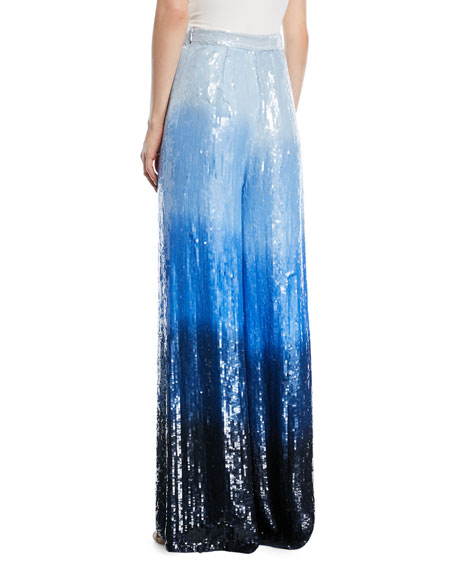 Sequined Dip-Dye Trousers