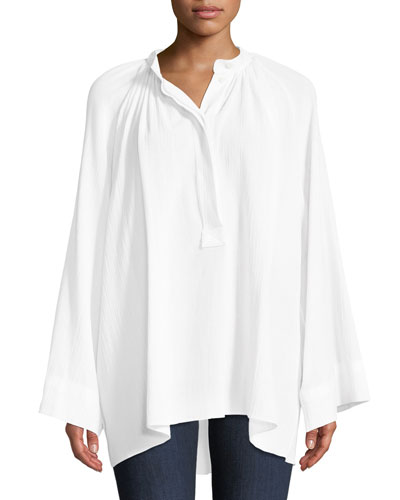 Full-Sleeve Cotton Poet Blouse