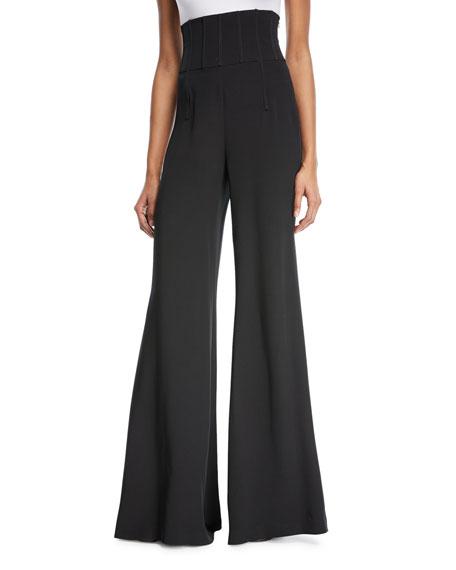 Jade High-Waist Wide-Leg Pants