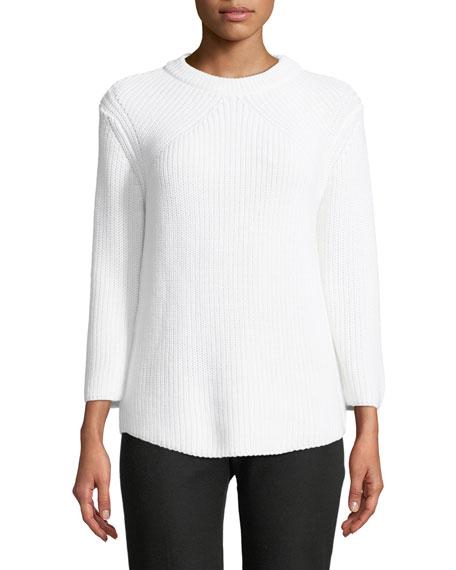 Crewneck Long-Sleeve Knit Sweater