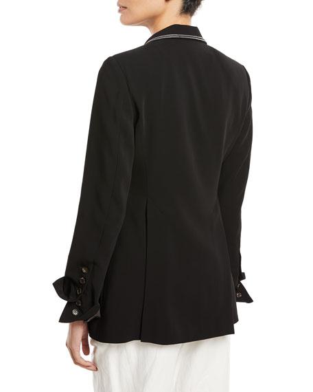 One-Button Blazer w/ Monili Trim
