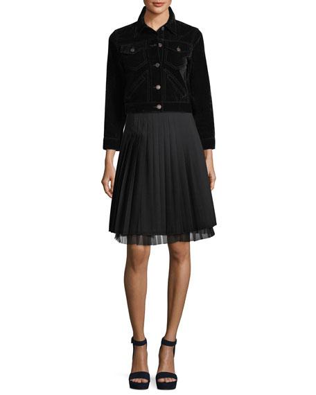 Pleated A-Line Skirt