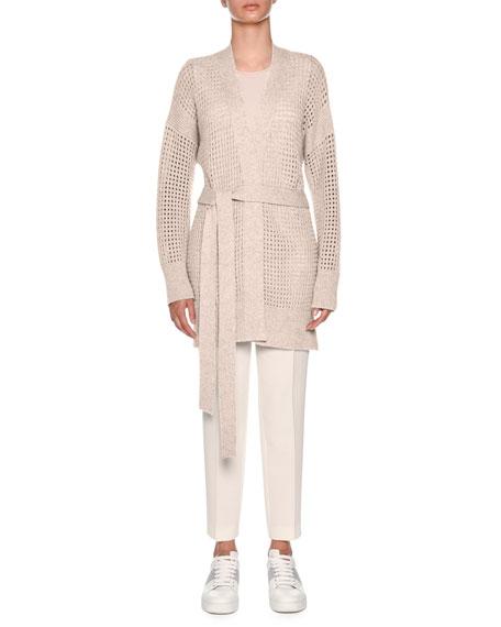 Knitwear Cashmere Net Relax Cardigan
