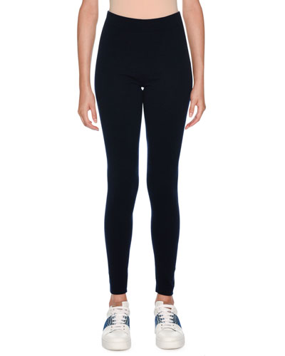 Cashmere Loungewear Leggings, Dark Blue