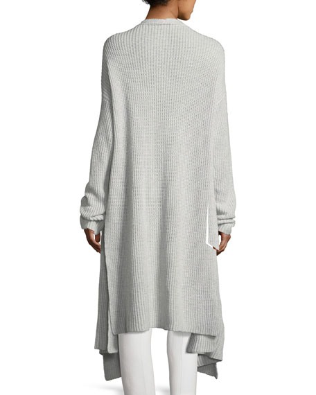 Waffle-Knit Cashmere-Blend Cardigan