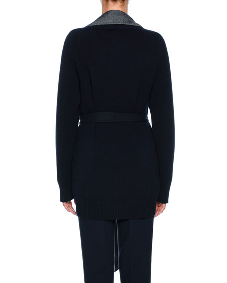Double-Face Cashmere Jacket, Dark Blue