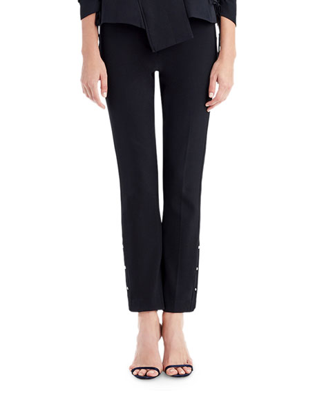 Straight-Leg Pants with Stud Details