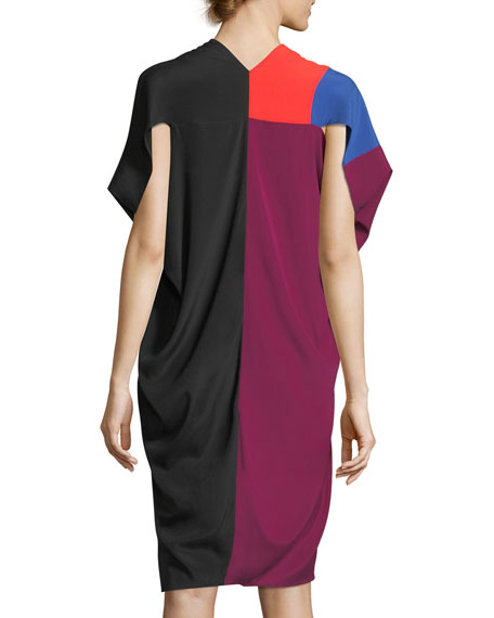 Lena Seamed Colorblock Dress