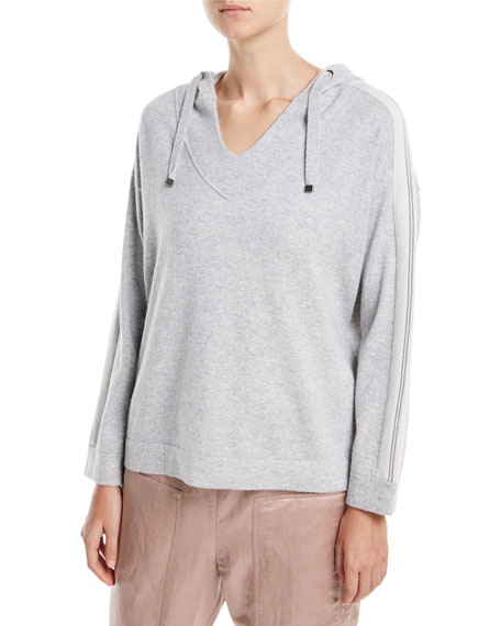 2-Ply Cashmere Hooded Pullover
