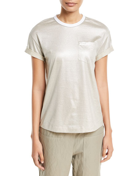 Short-Sleeve Lamé T-Shirt