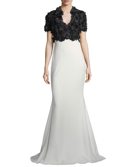 Flower Empire Gown