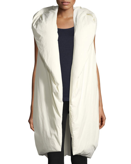 Hooded Taffeta Down Vest