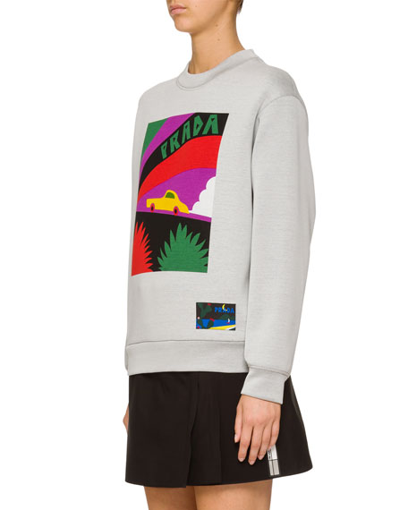 Car Logo Graphic Sweatshirt