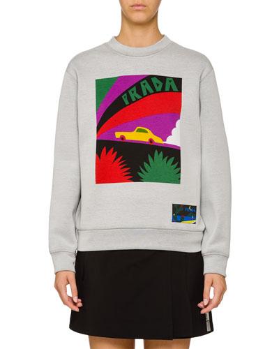 Car Logo Graphic Sweatshirt