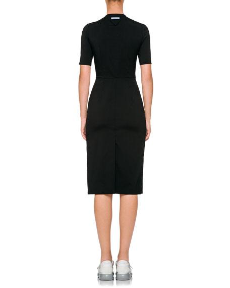 Short-Sleeve Sheath Dress