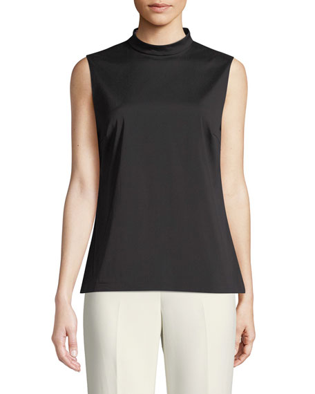Sleeveless Mock-Neck Top