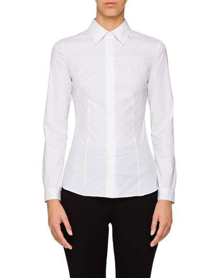 Classic Point-Collar Poplin Shirt