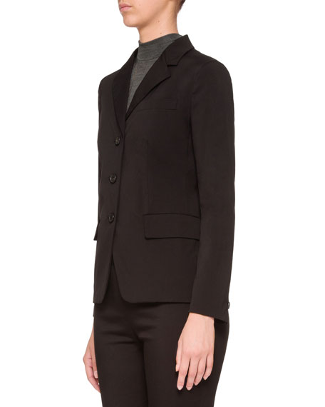 Stretch 3-Button Blazer Jacket