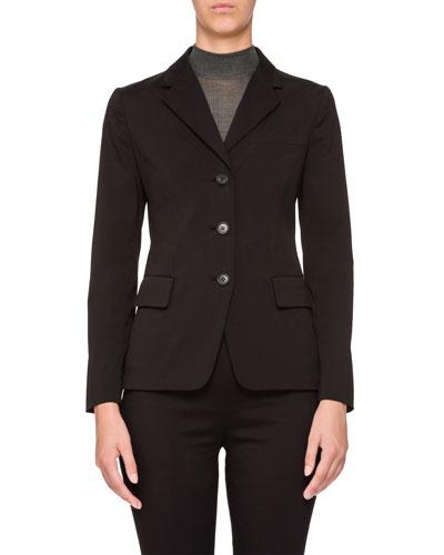 Stretch 3-Button Blazer Jacket