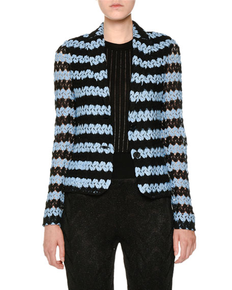 One-Button Knit Jacket