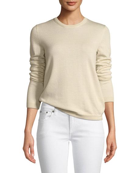Long-Sleeve Cashmere Crewneck Sweater