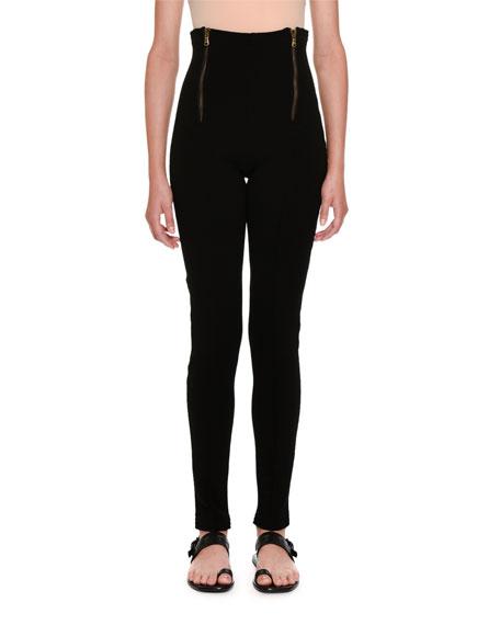 High-Waist Skinny Trousers
