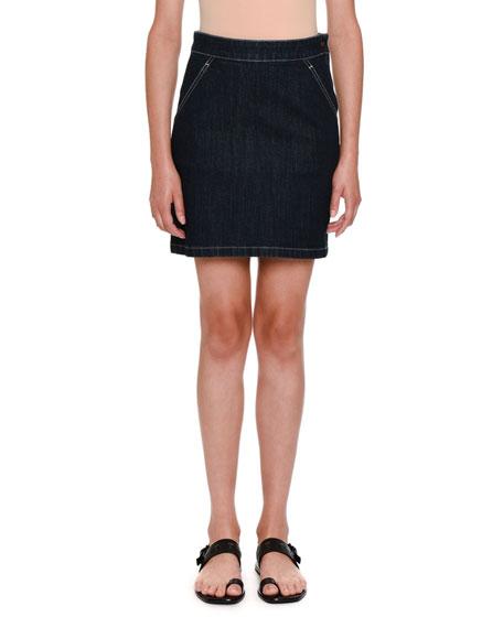 High-Waist Denim Skirt