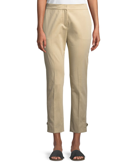 Cropped Stretch-Woven Pants