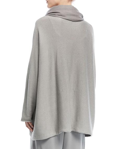 Sideways Knit Cotton Sweater