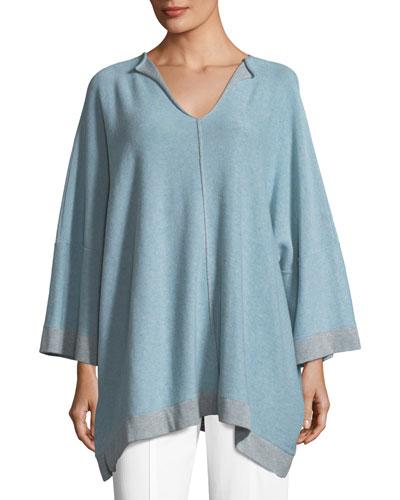 Knit Split-Neck Sweater
