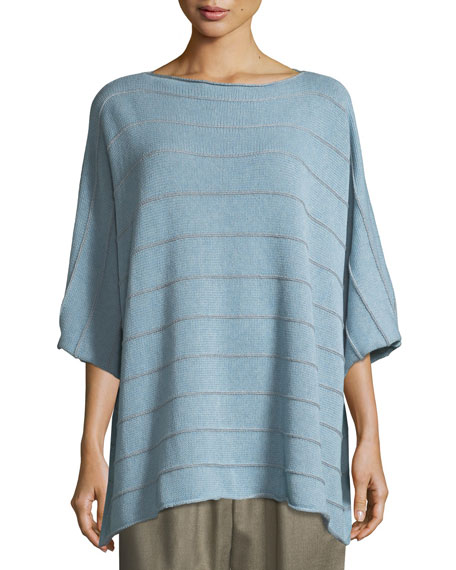 Short-Sleeve Square Knit Top