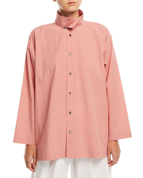Slim A-Line Check Shirt