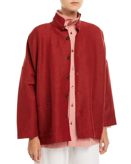 Wide Button-Front Jacket