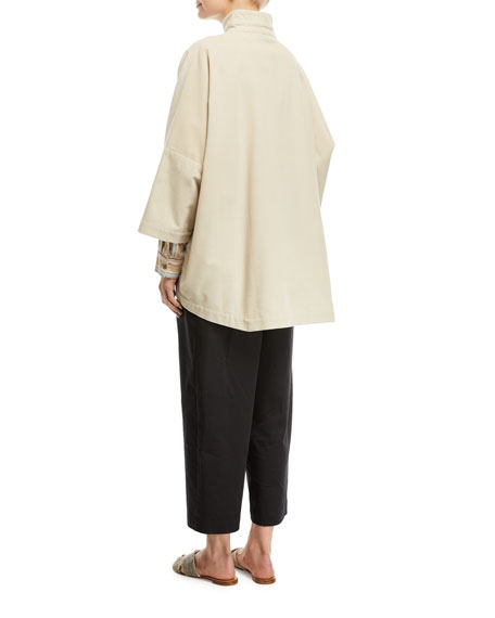 Slope-Shoulder Stand-Collar Jacket