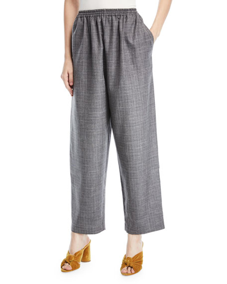 Crosshatched Japanese Trousers