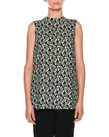 Sleeveless Floral-Print Top