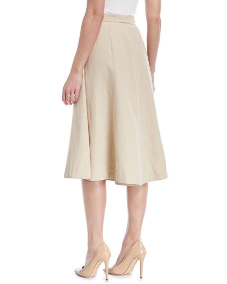 Cotton-Linen Knee-Length Culottes
