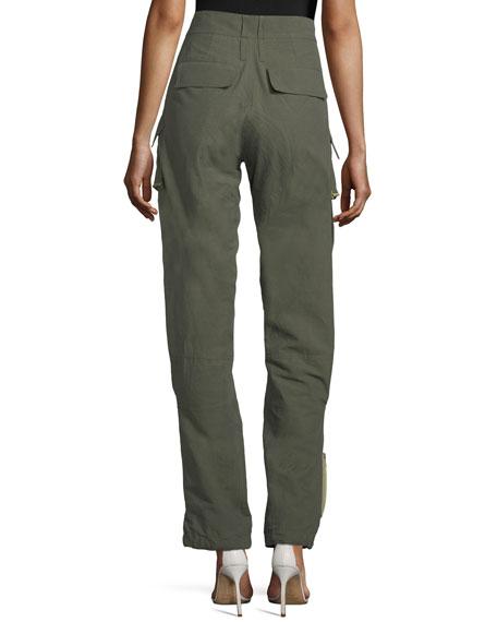 Zip-Pocket Cargo Pants
