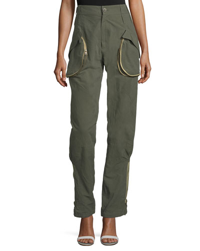 Zip-Pocket Cargo Pants