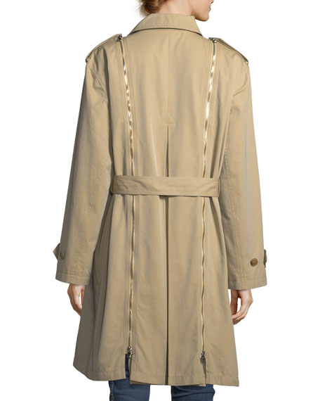 Double-Breasted Gabardine Trenchcoat
