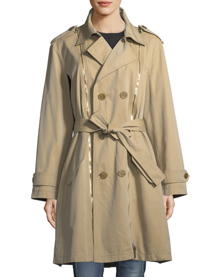 Double-Breasted Gabardine Trenchcoat