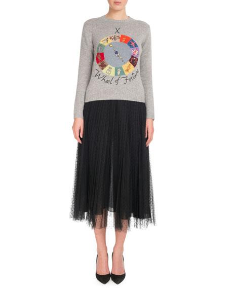 "Cashmere ""Wheel of Fortune"" Tarot Sweater"