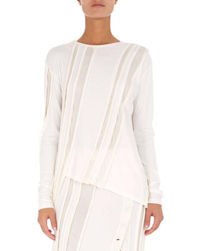 Long-Sleeve Sculpted Jersey Top